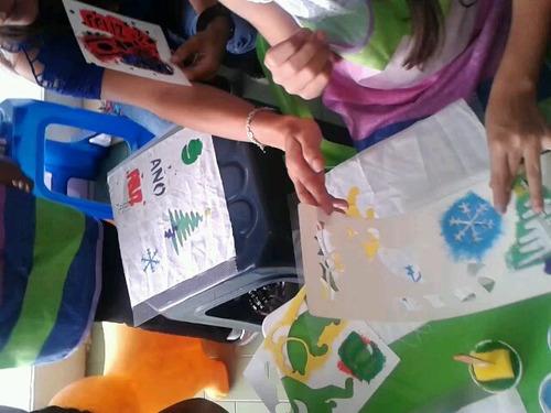 estaciones de actividades colorear pintura estampado aleymar
