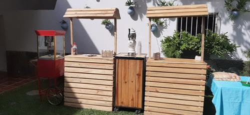 estaciones de comida para tu evento, perros calientes, hamb