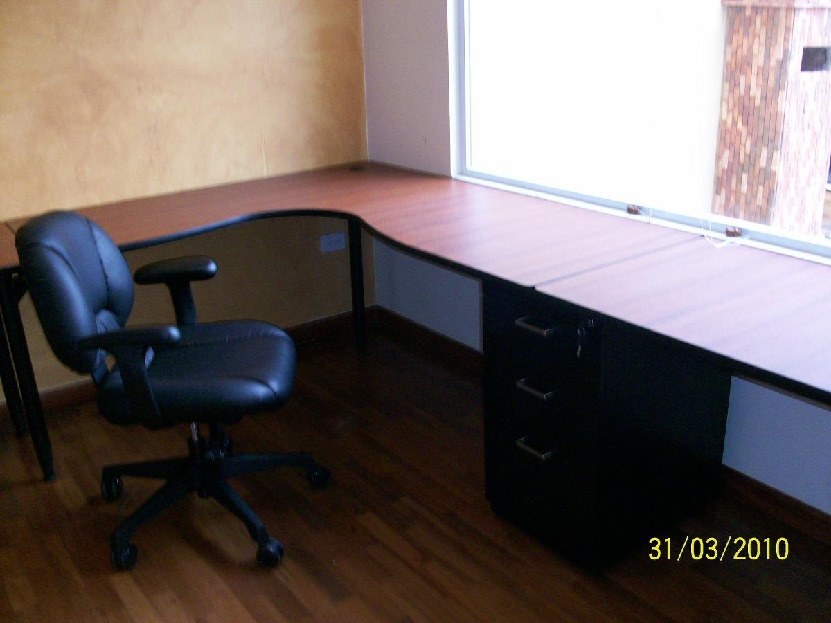 Estaciones de trabajo en l escritorios muebles de oficina for Muebles en l