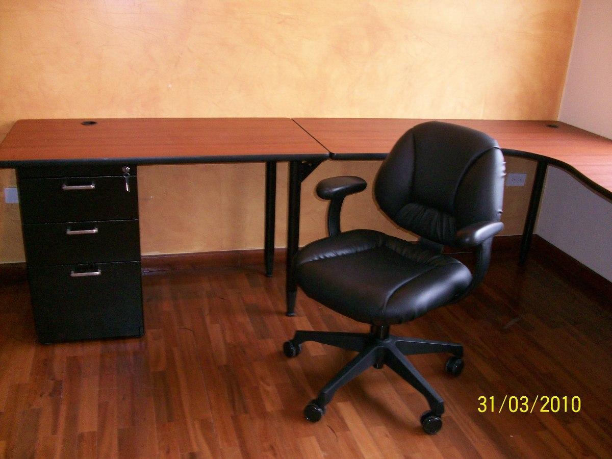 Estaciones de trabajo en l escritorios muebles de oficina for Muebles de oficina mercado libre