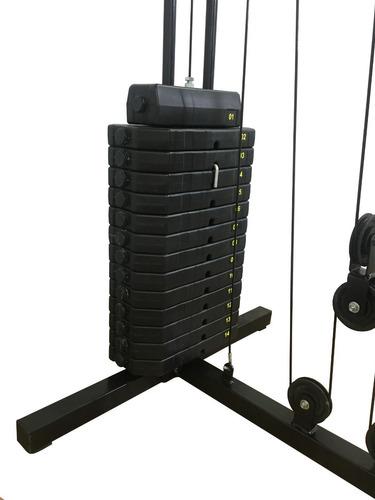 estação de musculacao emk com 100 kg com rosca scoot kenkorp