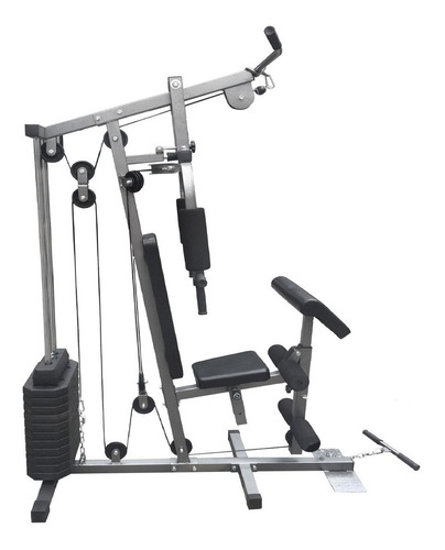 estação de musculação aparelho com 80kg em anilhas de pesos