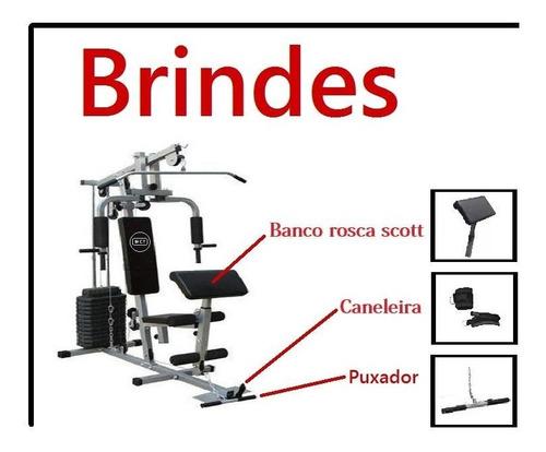 estação de musculação com 80kg aparelho ginastic