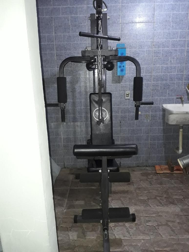1a38e8e1c3 Estação De Musculação Com 80kg De Anilhas