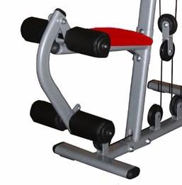 estação de musculação emk 2810 vermelha -com 50 kg  kenkorp