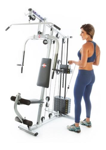 estação de musculação kenkorp emk2810 com 50kg frete grátis