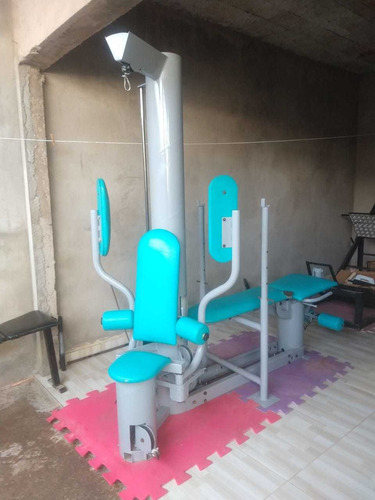 estação de musculação vectra de 1 coluna, academia