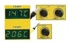 estação de solda 2 em 1 e soprador ar quente yaxun 702 220v