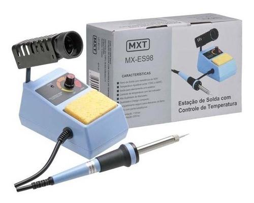 estação de solda mxt com controle de temperatura 127 v