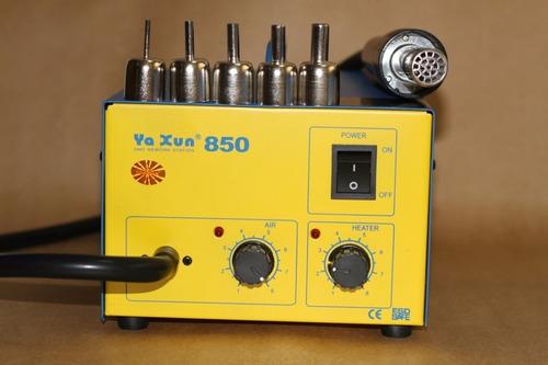 estação de solda retrabalho ar quente vapor yaxun 850 220 v