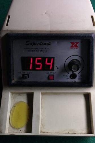 estação de solda supertemp xytronic xy26-60d (sucata)