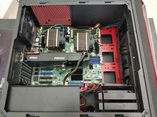 estação de trabalho ddr4 - s2600cw intel gtx 1080 - 64gb