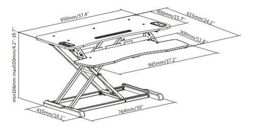 estação de trabalho ergonômica notebook monitor  dws06-02