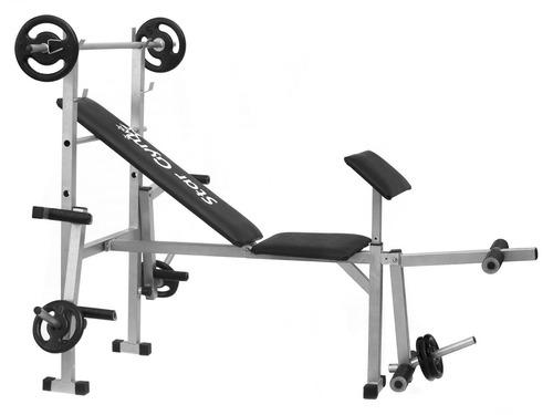 estação musculação academia residencial completa c/ 14kgs