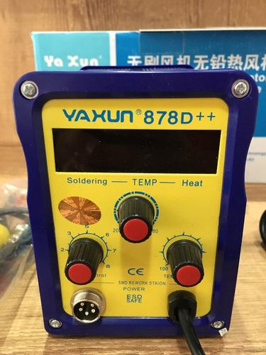 estação solda e retrabalho 2 em 1 yaxun 878d++ 110v