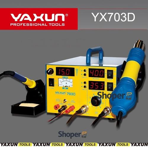 estação yaxun 3em1 703d  lançamento 2017 ar + ferro + fonte