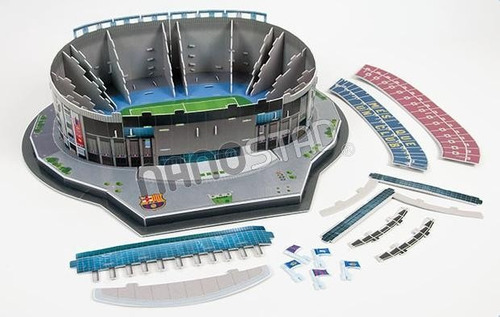 estadio camp nou barcelona rompecabezas 3d nanostad messi
