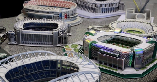 estadio camp nou club barcelona nanostad rompecabezas 3d