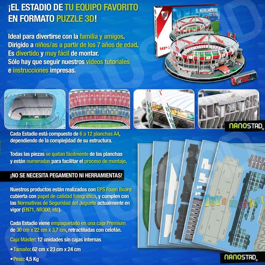 Estadio Del Barcelona Puzzle 3d Maqueta Para Armar Nanostad -   599 ... 76d087f548be9