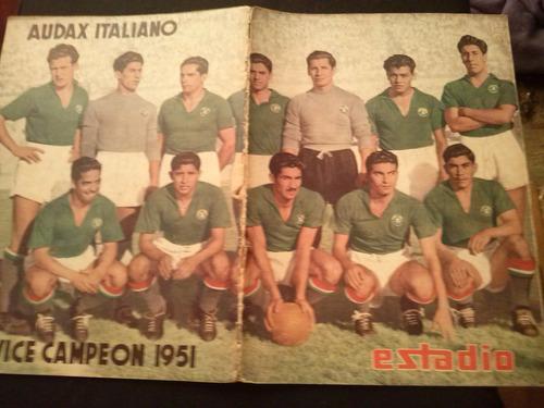 estadio n° 451  audax italiano 5 ene 1952