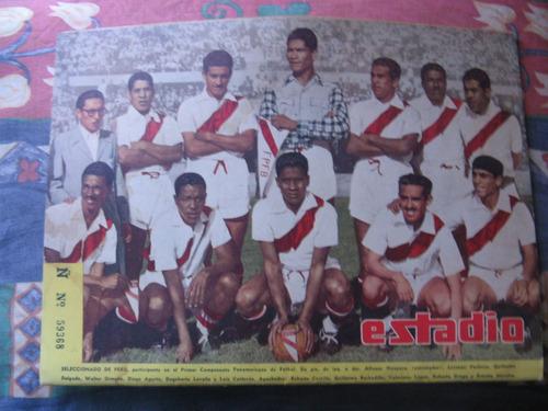 estadio n° 466, 19 abr 1952 seleccionado de peru