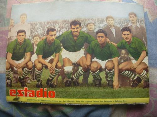 estadio n° 592 18 septiembre de 1954 delantera de wanderers