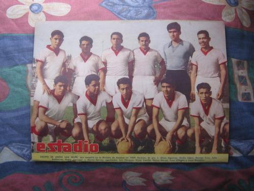 estadio n° 867,7 enero 1960, equipo de union san felipe
