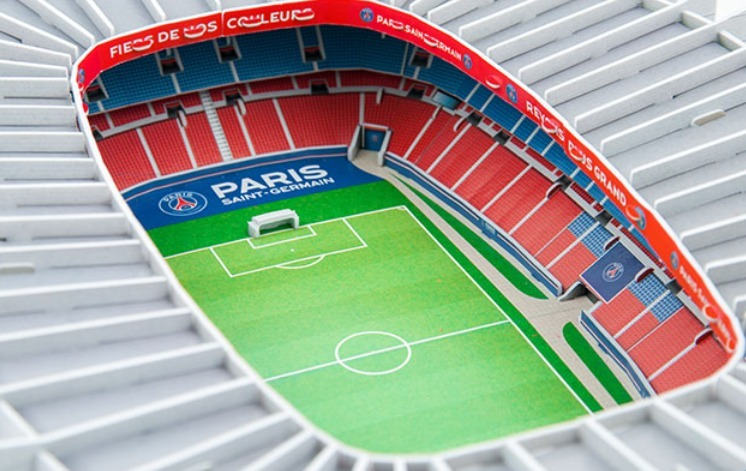 estadio psg paris parc des princes rompecabezas 3d. Black Bedroom Furniture Sets. Home Design Ideas
