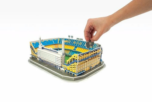 estadio puzzle 3d a escala nanostad boca river racing