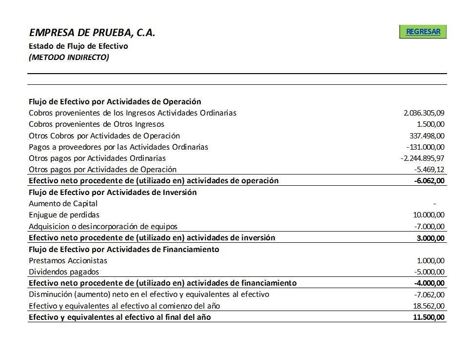 Estado De Flujo De Efectivo nic 7 Excel 30000 en Mercado Libre