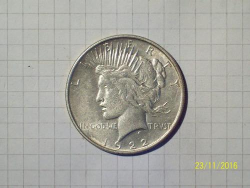 estados unidos 1 dólar plata 1922 26,7 gr