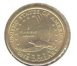 estados unidos, 1 dollar, 2001d, sacagawea, (fc).