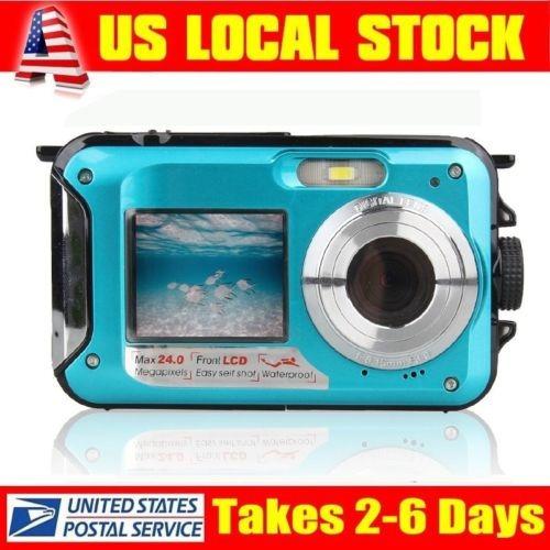 estados unidos 1080p 24mp doble pantalla hd 16 x zoom cámara