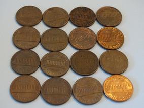 Estados Unidos 16 Moedas Cent 1 Centavo Dólar 1935 A 1989