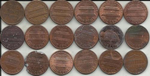 estados unidos 18 monedas. centavo diferente fecha 1940-2010