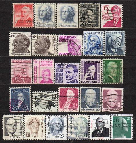 estados unidos - 1966-2002 - lote 26 selos diversos