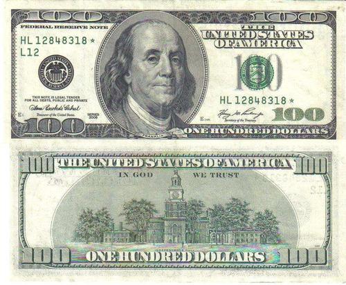 estados unidos - céd de 100 dólares c/ asterisco. 2.006 -l12