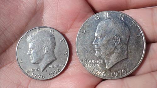 estados unidos. dollar y half dollar - (1776 - 1976)