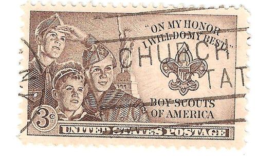 estados unidos estampilla de boy scouts