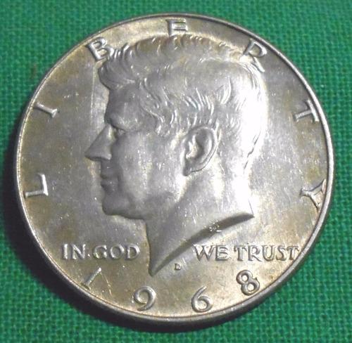 estados unidos medio dolar 1968 d - kennedy - plata