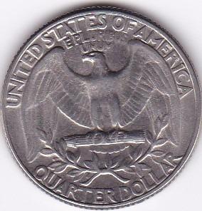 estados unidos! quarter dollar 1970 d - washington