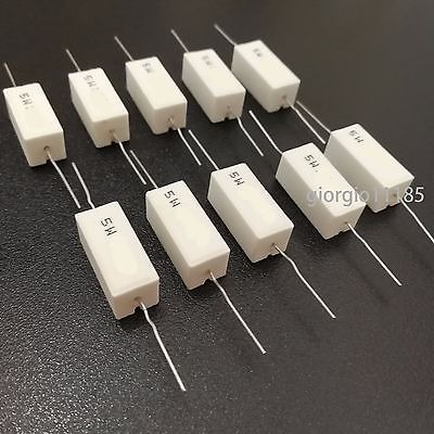 5 Ohm 5 Watt 3 Pieces Ceramic Cement Power Resistor 5W