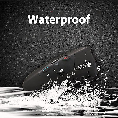 V9 Bluetooth Interphone Intercom for Motorcycle Helmet VOX Sound IP65 Waterproof