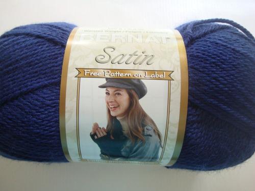 estambres lanas hilos de tejer bernat satin unicolores 100gr