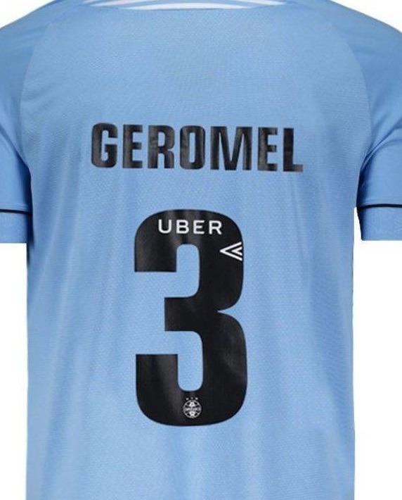 Estampa Fonte Número Letras Nome - Camisa Grêmio 2018 - R  40 868d70d079026