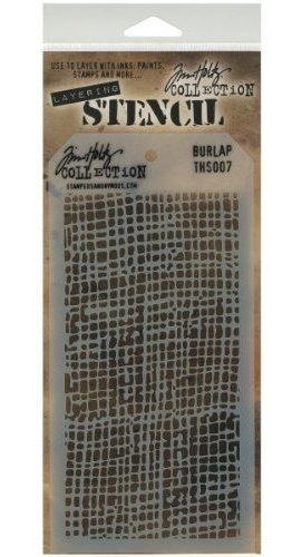 estampa la plantilla en capas anonima tim holtz 4125 por arp