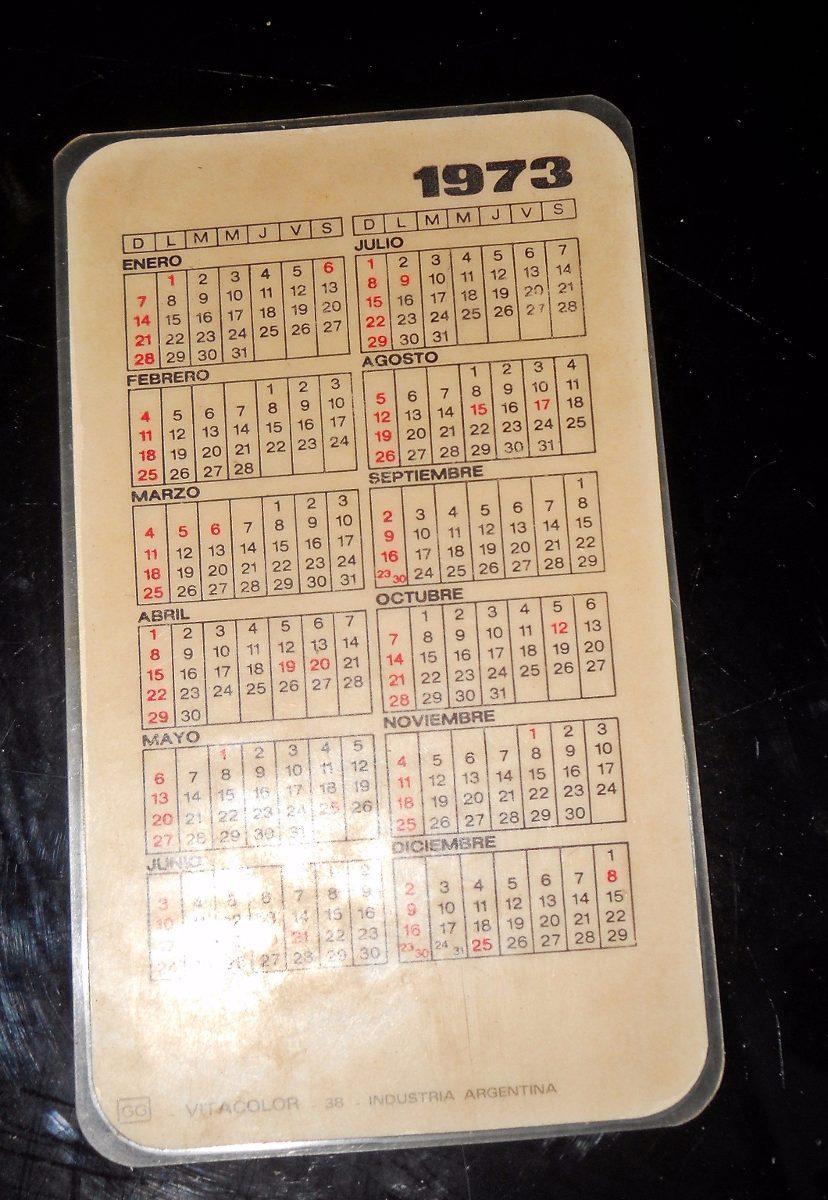 Calendario 1973.Estampa Plastificada Con Calendario 1973 40 00
