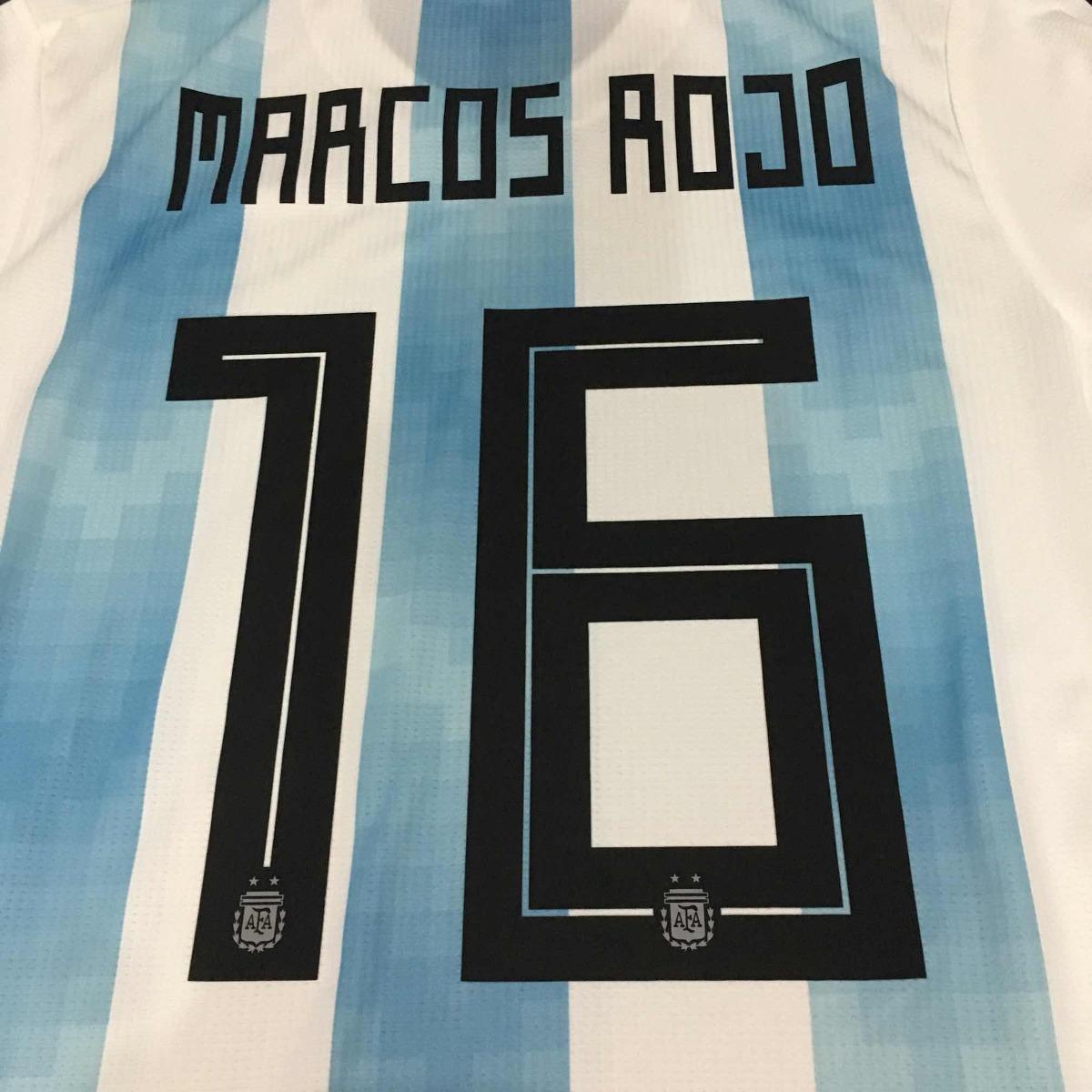 Estampado Afa 2018 Plastisol #16 Marcos Rojo - $ 699,00 en Mercado Libre