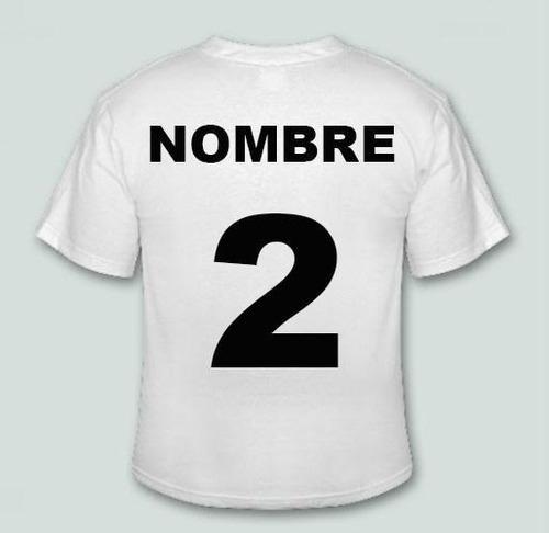 estampado de nombre y numero camiseta futbol basket hockey