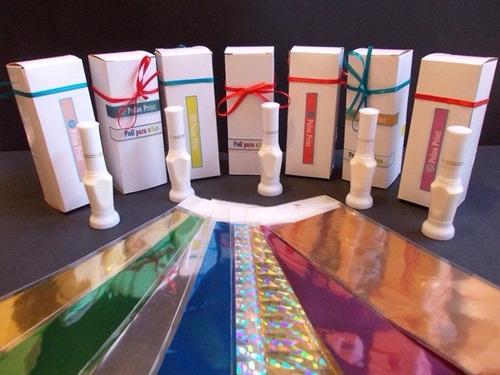 estampado de uñas con foil de polus print